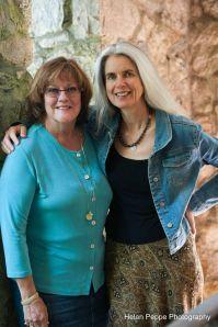 Barbara Kelly with Suzanne Strempak Shea at Stonecoast MFA Residency '14
